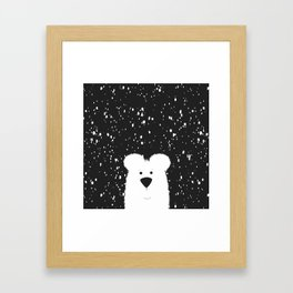 Beary Snowy Framed Art Print