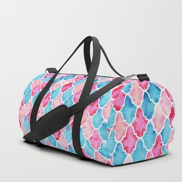 Colorful Moroccan style pattern Duffle Bag