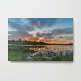Back Bay High Tide Sunset Metal Print