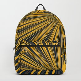 The sun print, abstract sun rays in navy blue sky Backpack