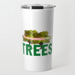 Splittin' Trees Funny Disc Golf Travel Mug