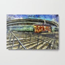 Arsenal FC Emirates Stadium Van Gogh Metal Print