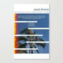 JZs Resume Canvas Print
