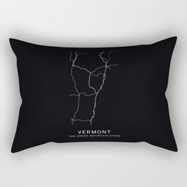 Vermont State Road Map Rectangular Pillow