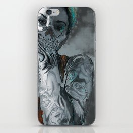 My face is a skull iPhone Skin