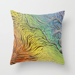 Rainbow Vision Throw Pillow