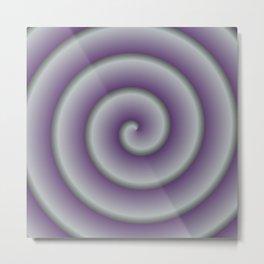 Gradient Purple Swirls Metal Print