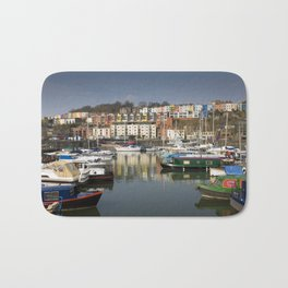 Bristol Boats and Coloured Houses Bath Mat