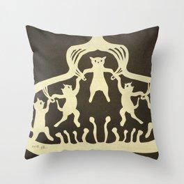 Cats circus Throw Pillow