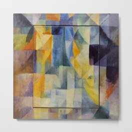 "Robert Delaunay ""Simultaneous Windows onto the City"" (1st Part, 2nd Motif, 1st Replica) Metal Print"