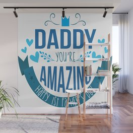 Cool First Fathers Day Best Dad AF Saying Son Gift Wall Mural