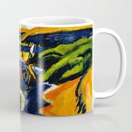 Sailboats & Beach at Nidden by Hermann Max Pechstein Coffee Mug