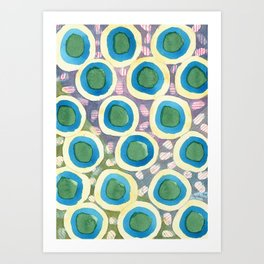 Four Directions beneath Circles Pattern Art Print