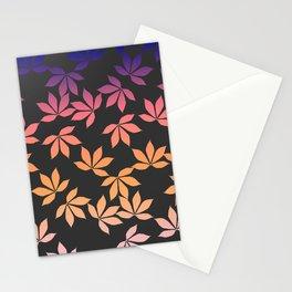 chestnut leaves pattern design color Stationery Cards