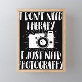 Photographer photography photo camera lens Framed Mini Art Print