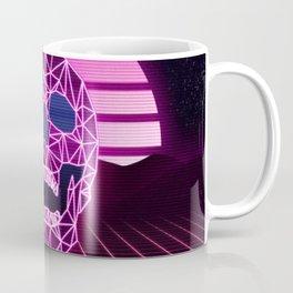 Synthwave Space #16: Twilight horizon & skull Coffee Mug