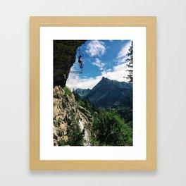 Via Ferrata Framed Art Print