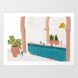 Alcove pool Art Print