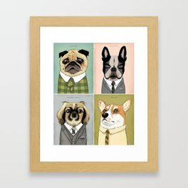 Mad Men Dogs 2 Framed Art Print