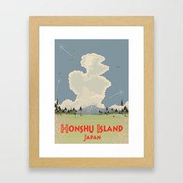 Honshu Island, Japan Framed Art Print