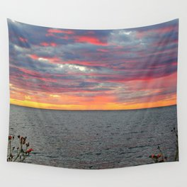 Pink Skies and Virga on the Sea Wall Tapestry