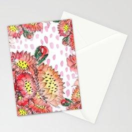 Orange Cacti Flowers Stationery Cards