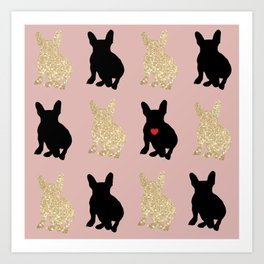 Dazzling French Bulldogs Art Print