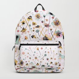 Wild flowers sunshine gold Backpack