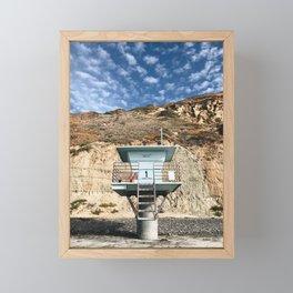 Beach Hut / Torrey Pines Framed Mini Art Print