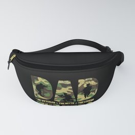 Mens Dad The Veteran The Myth The Legend Gift for Hero Soldier design Fanny Pack