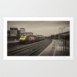 Harry Patch at Bristol Temple Meads Art Print