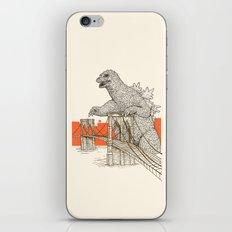 Godzilla vs. the Brooklyn Bridge iPhone & iPod Skin