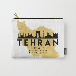 TEHRAN IRAN SILHOUETTE SKYLINE MAP ART Carry-All Pouch