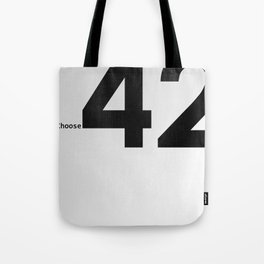 Choose 42 for your Towel Day Tote Bag