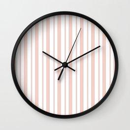 Peach striped Wall Clock