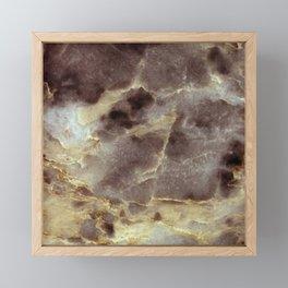EMPEROR MARBLE Framed Mini Art Print