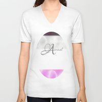 asexual V-neck T-shirts featuring Asexual pride by Adam M. Snowflake