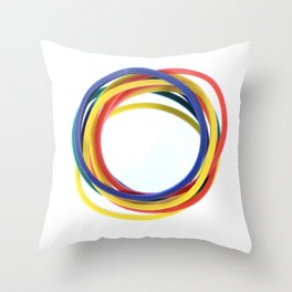 Several Stationery Rubbers Throw Pillow