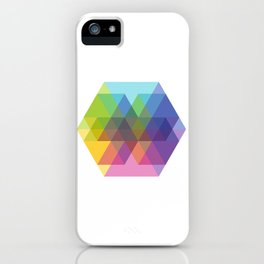Fig. 040 Hexagon Shapes iPhone Case