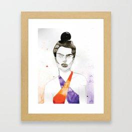 Emily In A Swimsuit Framed Art Print
