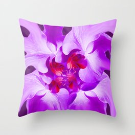 Abstract Orchid In Lavender Throw Pillow