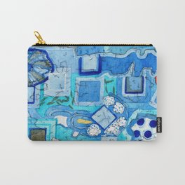 Blue Room with Blue Frames Carry-All Pouch