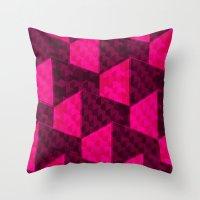 hexagon Throw Pillows featuring HEXAGON by xalomako