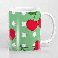 cherry Mugs featuring cherry by vitamin