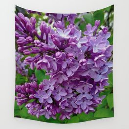 Lilac Blooms Wall Tapestry