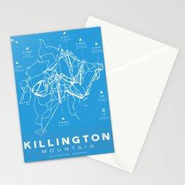 Killington Mountain, Ski Trail Map Stationery Cards