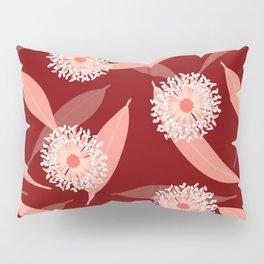 Australian Flora in Red Pillow Sham