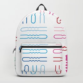 Hair Stylist Pattern Backpack