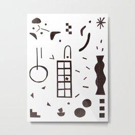 dot-line-plane01 Metal Print