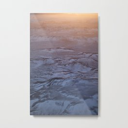 Iceland Mountains in the Sunrise Metal Print